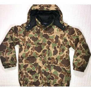 Polo Ralph Lauren camouflage down jacket MED 10-12